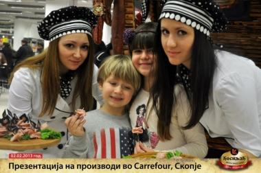Презентација на производи во Carrefour - Скопје